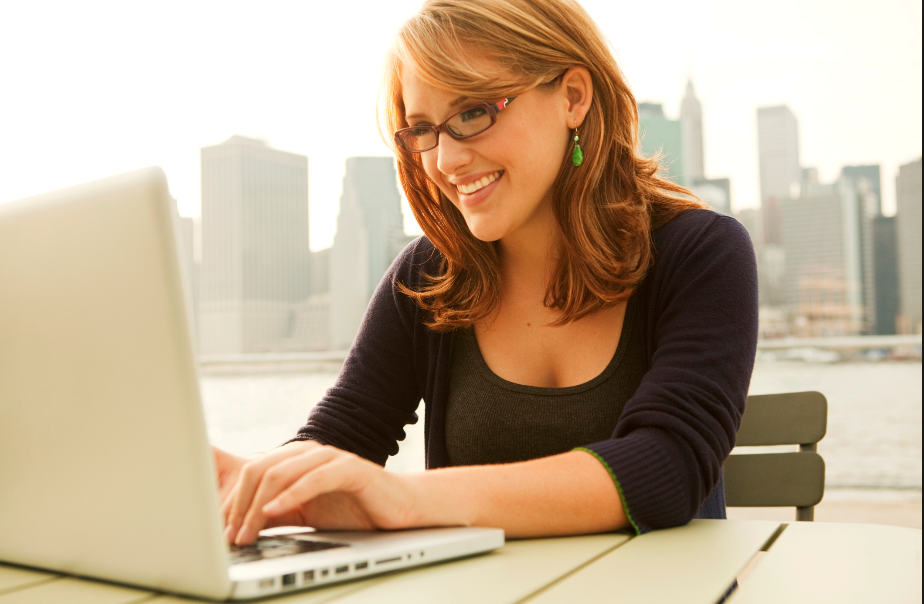 reasons why woman signing up on computer